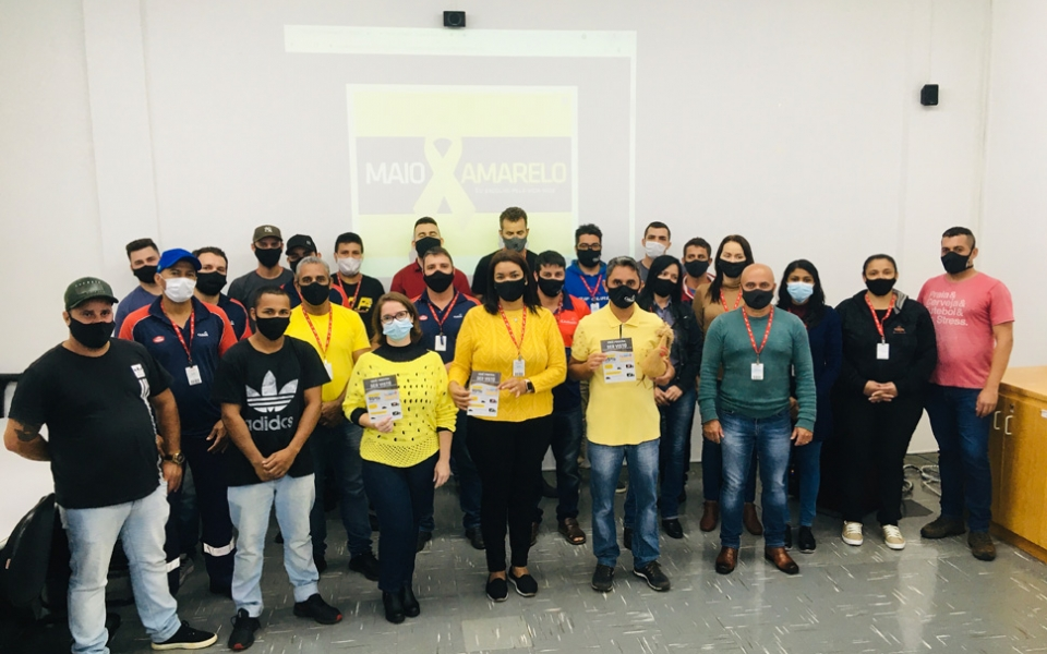 Maio Amarelo: Globoaves Matriz realiza campanha de conscientização